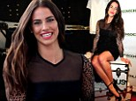 'Ready to paint the town red!' Jessica Lowndes casts a spell in black lace dress at H&M event... before dancing night away