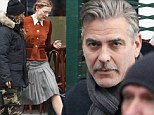 The prettiest fräulein: Flashback to 1940s Berlin for Cate Blanchett and George Clooney... with a Clark Gable style mustache