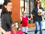 A very Happy Meal! Jennifer Garner and daughter Violet cannot stop smiling after visit to McDonalds