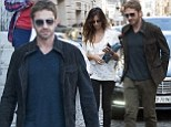 Soaking up the culture in the capital: Gerard Butler and his girlfriend Madalina Ghenea enjoy a sightseeing stroll around Rome