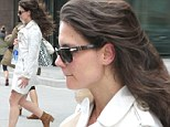 Katie Holmes jumped out of the gym in the car on Sunday