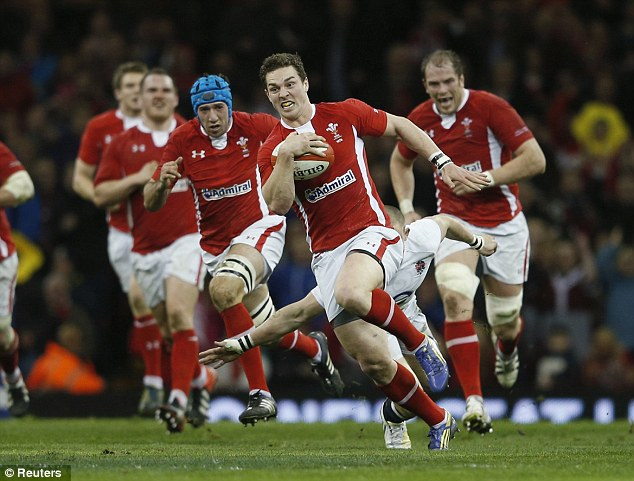 Imposing: George North is proven at Test level and will complete his move to the Aviva Premiership imminently