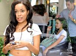 Getting used to it? Dionne Bromfield relaxes as she takes a short break in Beverley Hills