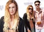 Rumer Willis flaunts her slim figure in a bohemian bikini at Las Vegas pool party with boyfriend Jayson Blair