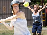 'Hit that ball like I needed to today': Kendra Wilkinson wins softball game after quitting ABC's Splash