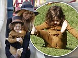 Oops, that wasn't supposed to happen! Rachel Zoe's fashion forward son takes a tumble during parkland romp