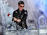 Ice to meet you! Tom Cruise has a smashing time onstage at the Oblivion premiere in Taiwan