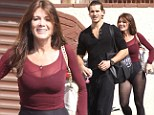 Hot to trot! Lisa Vanderpump shows off her trim physique as she dons her favourite pants-free dance outfit for Dancing with the Stars practise