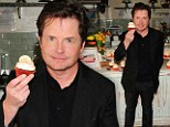 Who wants a cupcake? Michael J Fox takes a sweet bite for Parkinson's Awareness Month