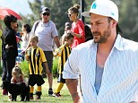 Soccer Sunday! Kevin Federline and girlfriend Victoria Prince sit on the sidelines as his sons play a game of football... as they're joined by ex Britney Spears' parents