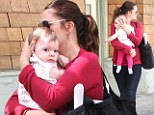 Bonding in style! Drew Barrymore steps out for brunch with baby Olive in complimentary colored outfits