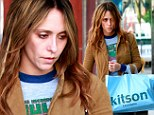 A disheveled Jennifer Love Hewitt went shopping Saturday in Beverly Hills