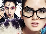 She's a master of musical disguise: Disney star Laura Marano dresses up as Lady Gaga, Jessie J and Elton John in quirky pop-inspired shoot
