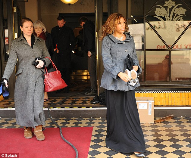 Formal affair: Extras leave The Daffodil restaurant wearing evening gowns