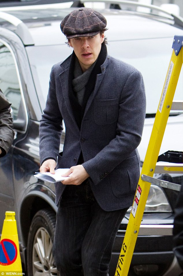 Classic: Benedict wears a similar hat to what the original Sherlock wore back in the late 1800s