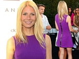Gwyneth Paltrow claims she 'has the butt of a 22-year-old stripper' as she shows off her figure in a purple Posh dress