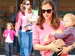 Think pink! Jennifer Garner and daughter Seraphina are a match as they hit up hardware store in the same color