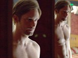 True hunk: Alexander Skarsgard displays his chiseled chest in all its shirtless glory for Disconnect