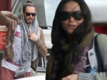 You two have worked up a sweat! Russell Brand and Demi Moore leave yoga studios after meeting up for an intense class