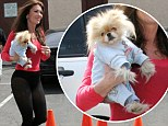 Gettin' Giggy with it! Lisa Vanderpump's cute pooch is ready for rehearsal in blue track suit with sequins