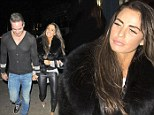 Pregnant Katie Price squeezes herself into leather-look leggings for night out with new husband Kieran Hayler... after revealing 'he pays for EVERYTHING'