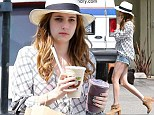 Nice pins: Emma Roberts flashes her legs in some tiny shorts whilst out and about in Los Angeles
