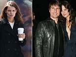Actor Tom Cruise and actress Katie Holmes