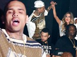 Not missing Rihanna then? Chris Brown dances with mystery blonde as he parties in Hollywood