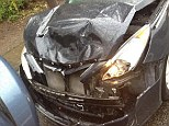 Smash: The BMW that was rammed into Tania Farah's car