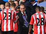 Frustrated: Di Canio consoles his Sunderland players