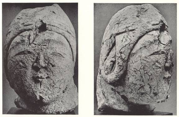 Figure 14 - 12th Century Ladies Head Stucco