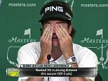 Don't stop me now: Watson wipes away the tears in front of the media