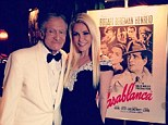 Celebrating right! Hugh Hefner and Crystal Harris celebrated his 87 birthday on Friday with a Casablanca night