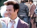 The Bouffant Legacy: Action star Jeremy Renner tries on a voluminous new ¿do for untitled David O. Russell Project