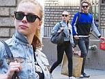 A perfect match! Scarlett Johansson and boyfriend Romain Dauriac coordinate their casual outfits in New York