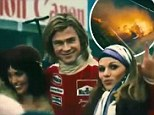 'The closer you are to death the more alive you feel': Chris Hemsworth becomes F1 driver James Hunt in official trailer for Rush