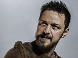 Not happy: James McAvoy stopped his performance so he could berate a theatre goer who was filming him