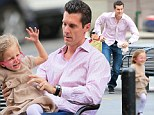 Catch me if you can! Jason Hoppy is given the runaround by daughter Bryn at the park