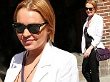 Lindsay Lohan and the trouser suit case: Lilo arrives at Letterman studios after skipping court hearing