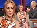 'Rehab is a blessing not a curse': Uncomfortable Lindsay Lohan is grilled on her addiction problems during Letterman appearance