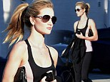 As fresh as... a rose! Rosie Huntington-Whiteley put all to shame as she parades her perfect figure and flawless skin after session at the gym
