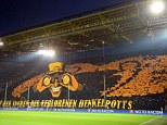 Incredible: Borussia Dortmund fans unleashed a spectacular display ahead of their Champions League tie