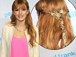 Stars in her hair: A whimsical garland in Bella Thorne's hair points the way up