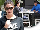 Let there be light! A happier Ashley Greene gets a boost from ex-boyfriend Josh Henderson over lunch