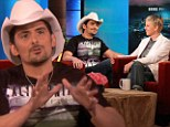 Country music star Brad Paisley explained his controversial song 'Accidental Tourist' on Tuesday on The Ellen DeGeneres Show