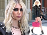 Taylor Momsen wore black leather to shoot her new music video with Japanese singer Tomomi Itano on Tuesday in New York