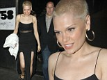 You like the buzz cut then? Gamine Jessie J heads out on the town after getting her hair shaved even SHORTER