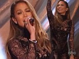 A classic performance! Jennifer Lopez is racy in lace as she duets with Andrea Bocelli on Dancing With The Stars