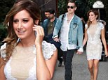 Ashely Tisdale in New York with her boyfriend Christopher French ahead of her interview with Jimmy Kimmel