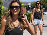 Audrina Patridge turns heads as she parades toned and tanned legs in skimpy denim hot pants